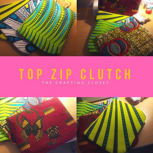 Instructions Top Zip Clutch