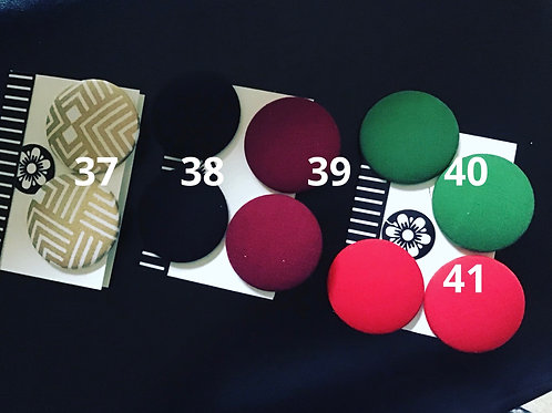 3 Pair of Large Button Earrings