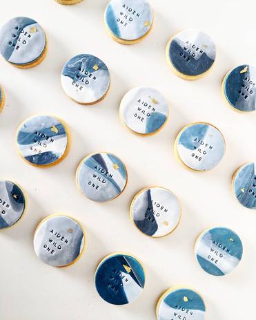 Marble stamped cookies