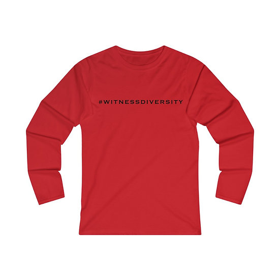WITNESS Women's Fitted Long Sleeve Tee