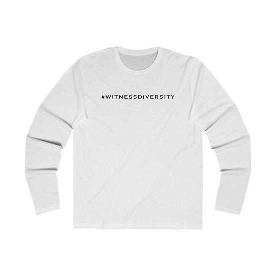 #WITNESSDIVERSITY Men's Long Sleeve Crew Tee
