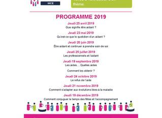 Programme Café des Aidants  petit rappel des dates 2019