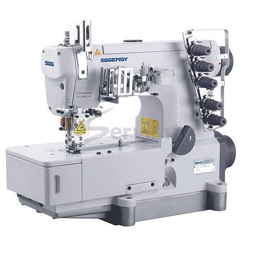 Máquina de Coser Collareta Tapa Costura Motor Incorporado 5 Hilos 3 Agujas