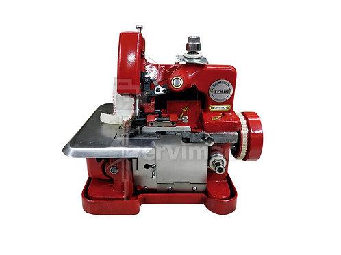 Máquina de Coser Overlock Roja con Motor Incorporado de 3 Hilos