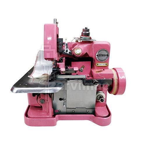 Máquina de Coser Overlock Rosa con Motor Incorporado de 3 Hilos