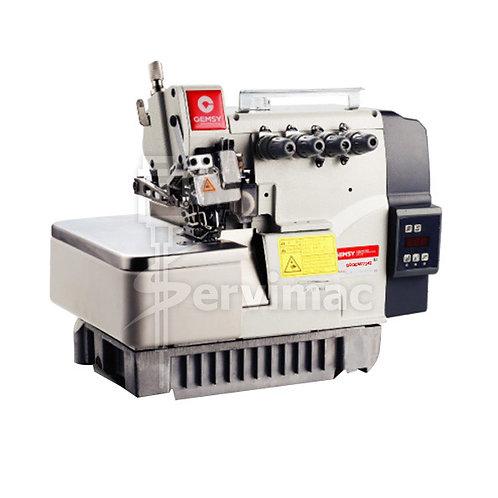 Máquina de Coser Overlock Motor Incorporado 4 Hilos 2 Agujas Tanque