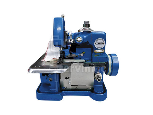 Máquina de Coser Overlock Azul con Motor Incorporado de 3 Hilos