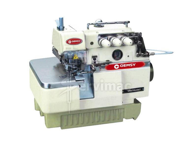 Máquina de Coser Overlock de 3 Hilos con Atracador de Cadeneta 7700-03XT
