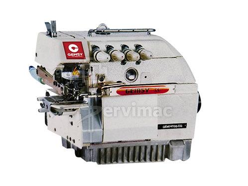 Máquina de Coser Overlock 4 Hilos Cama Cilíndrica Puño Chico