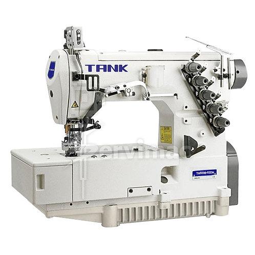 Máquina de Coser Collareta Tapa Costura 3 Agujas 5 Hilos Multifunción