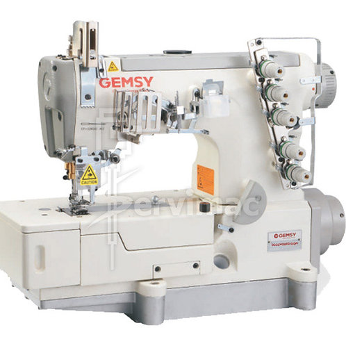 Máquina de Coser Collareta y Tapa Costura Multifunción de 3 Agujas 5 Hilos