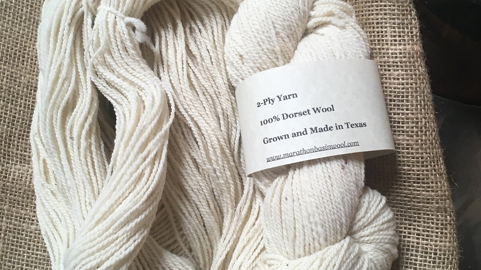 Two-ply Dorset Yarn
