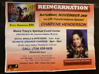 Reincarnation: A Special Spiritual Event with Charene!