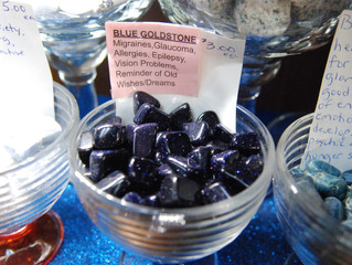 Dusting Off Your Dreams with Blue Goldstone