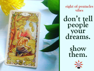 It's an 8 of Pentacles kind of day!
