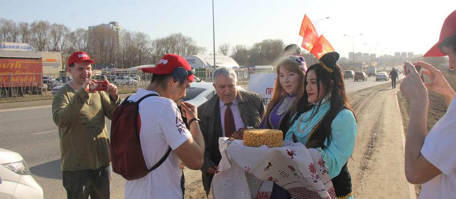 Встреча марафонца в Казани