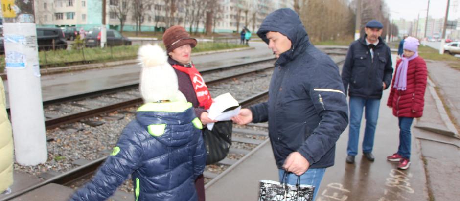 Руки прочь от Грудинина! Раздача листовок в Нижнекамске!