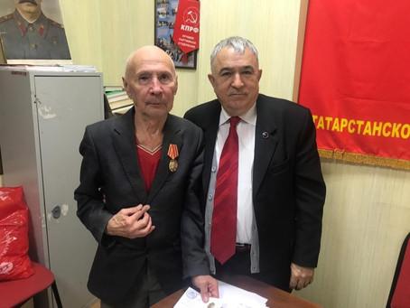 Вручили памятную медаль ветерану партии и заслуженному мининостроителю!
