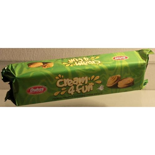 Dukes Cream 4 Fun Biscuit Pineapple Flavored Cream Sandwich Biscuits