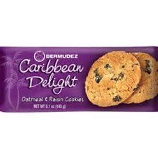 Bermudez Caribbean Delight Oatmeal & Raisin Cookies 145g