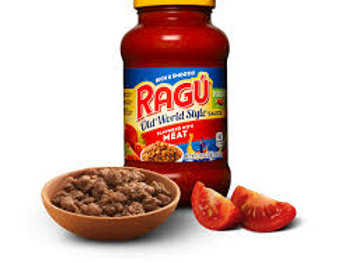 Ragu Old World Style Sauce  Flavored With Meat 396g