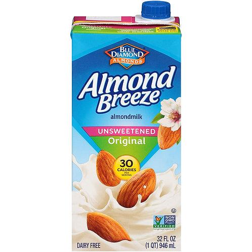 Blue Diamond Almond Breeze Unsweetened Original 32 fl