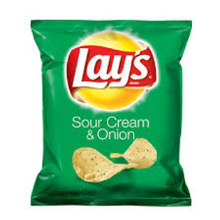 Lays Potato Chips Sour Cream and Onion 28.3g