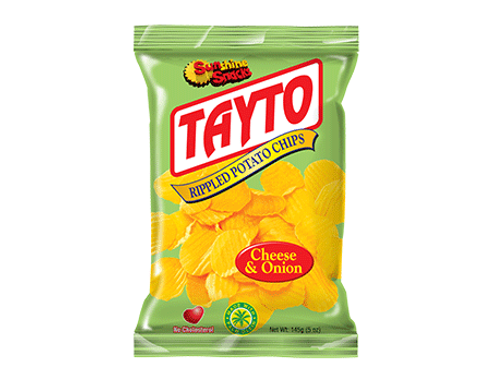 SunShine Tayto Rippled Potato Chips Cheese & Onion 35g