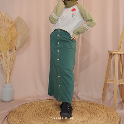 Noura Jeans Emerald Green