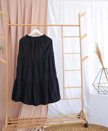 Flared Skirt by Wirdamae  (Black)