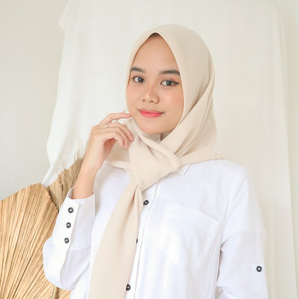Hijab Square Premium Edition Cream