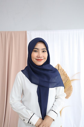 The New Hijab Square Premium (Navy)