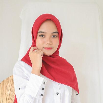 Hijab Square Premium Edition Red
