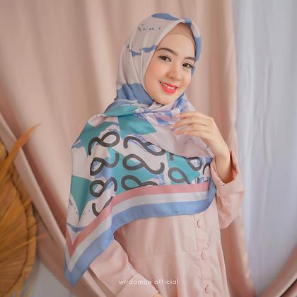 Hijab WM Premium On Fleek Blue