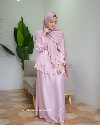 Dress Plisket - Pink