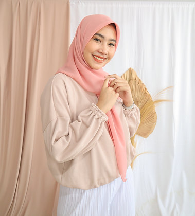 The New Hijab Square Premium (Roses)