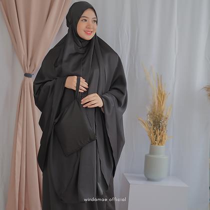 Mukenah Silk Premium Black Amber