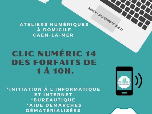 Affiche Clic Numéric 14 - Forfaits Mai 2021