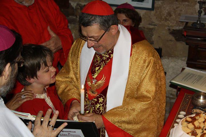 Facebook - Baptême de Lazare, 10 ans, dans l'Eglise syriaque orthodoxe de Lignée