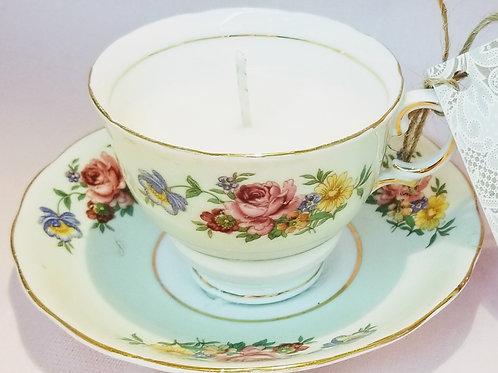 Vintage Tea Cup Candle - Colclough