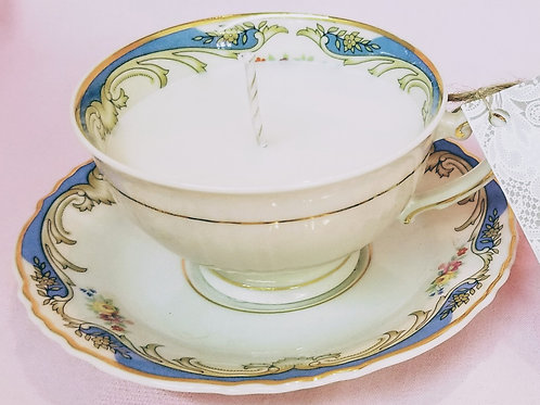 Vintage Tea Cup Candle - Federal Syracuse