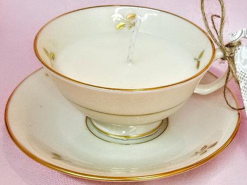 Vintage Tea Cup Candle - Lenox Rhodora