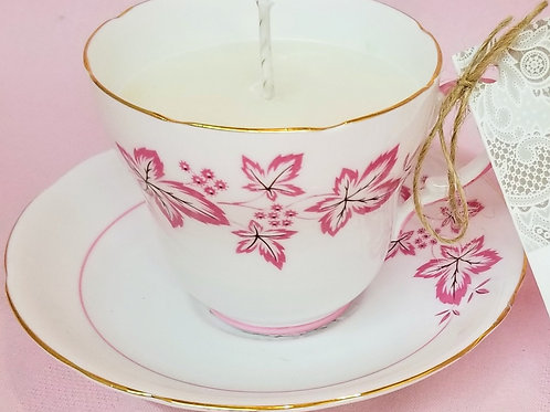Vintage Tea Cup Candle - Staffordshire Gladstone
