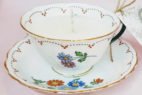 Vintage Tea Cup Candle - New Chelsea