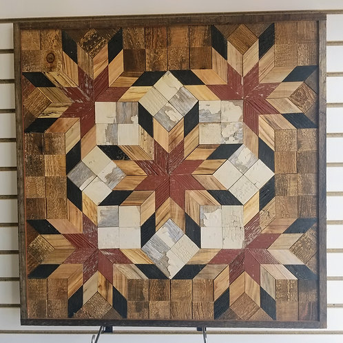 """Amish Made Wood Barn Quilt - Large 30x30"""" Square"""