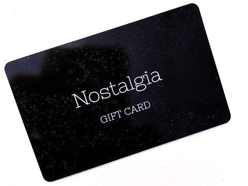 Nostalgia Gift Card