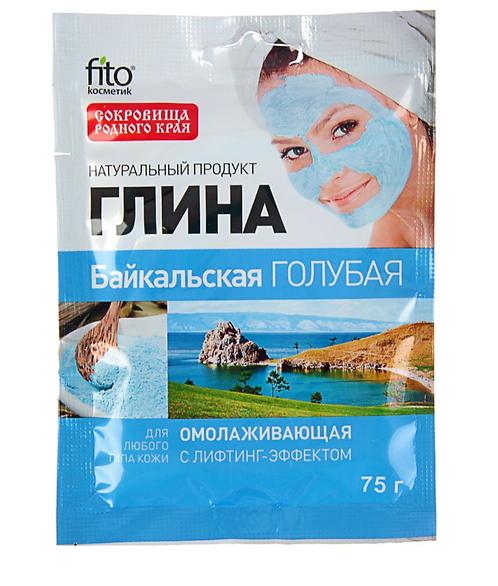 Glina Bajkalska plava za podmlađivanje, 75 g, sa lifting efektom