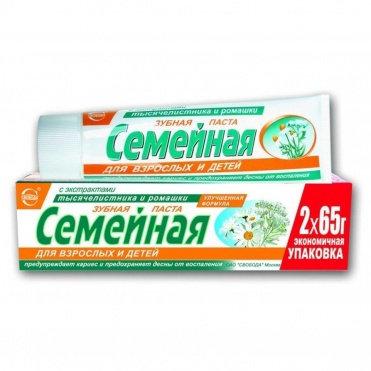 Pasta za zube Porodična sa ekstraktom kamilice i hajdučke trave 124 g.