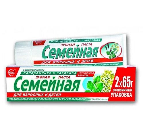Pasta za zube Porodična sa ekstraktom bokvice i kantariona 124 gr.