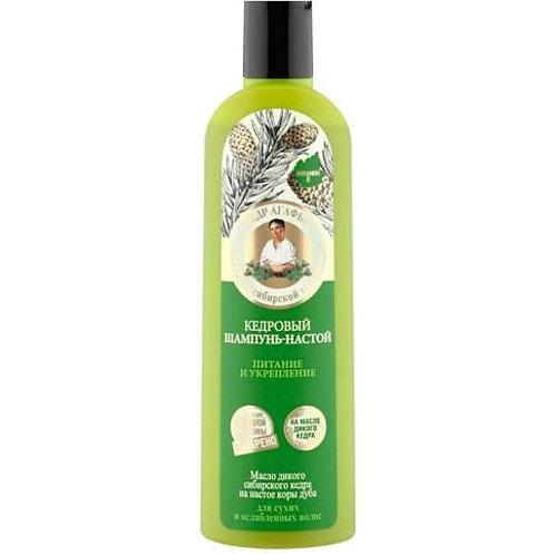 "Serija""Recepti bake Agafje""Šampon-tinktura za kosu sa uljem divljeg kedra 280ml"